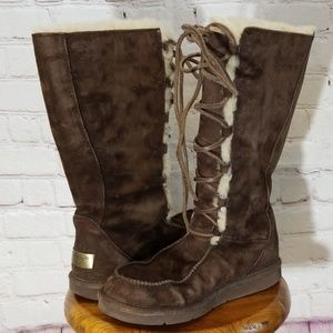 UGG Brown Appalachian Sherling Leather Boots